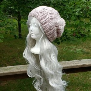 Pink Cabled Slouch